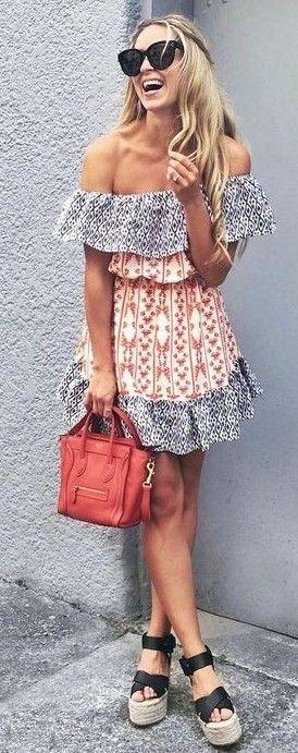 Off The Shoulder Little Dress                                                                             Source