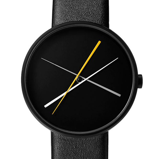 Crossover (black) watch by Projects. Available at Dezeen Watch Store: www.dezeenwatchstore.com