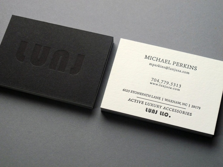 Lunj Buisness Card : Thomas-Printers
