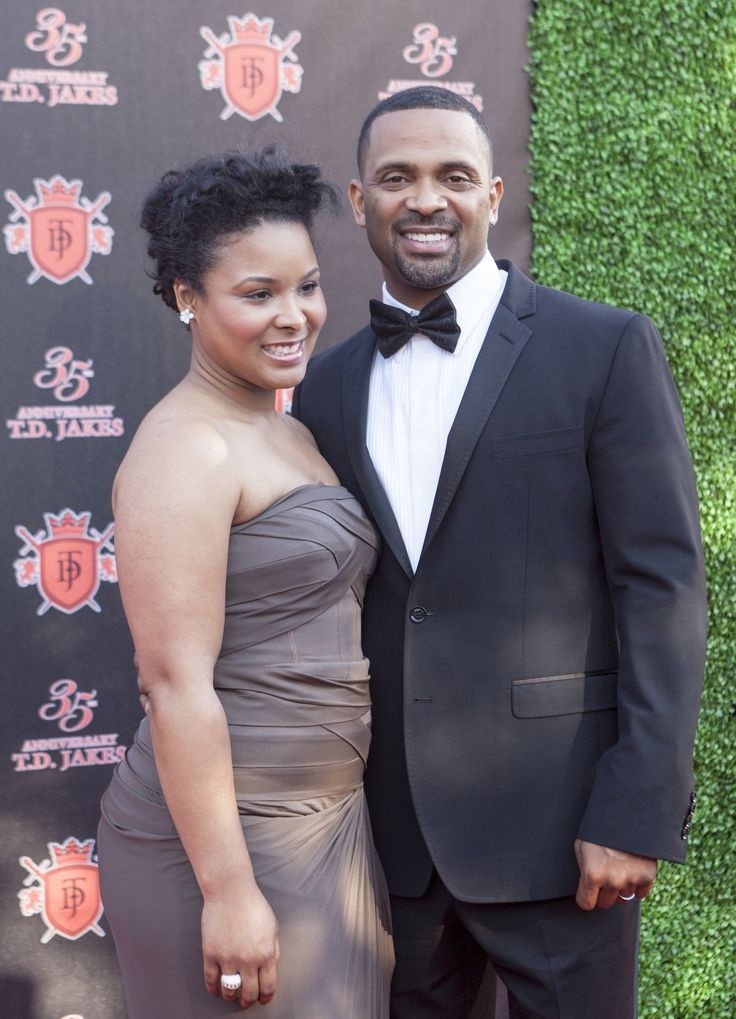 Mike Epps and his beautiful wife Mechelle Epps!