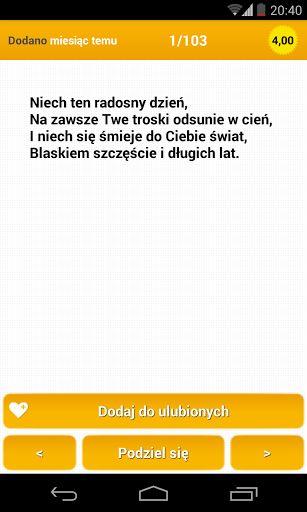 Najlepsze Życzenia Imieninowe, codziennie nowe życzenia dodawane przez użytkowników społeczności www.zyczenia.tja.pl, zobacz  najnowsze Życzenia, które dodają setki osób. Przyłącz się do nas i bądź wśród nich!<p>Duże możliwości:<br>- Dodaj do ulubionych i stwórz własną bazę z życzeniami<br>- Wyślij znajomym poprzez SMS, E-MAIL<br>- Wyślij znajomym na FB, Twitter, Google+<br>- Pobierz obrazek z życzeniem i wyślij MMSem lub dodawaj jako duże zdjęcie na Facebook<br>- Dodaj nowe życzenia które…