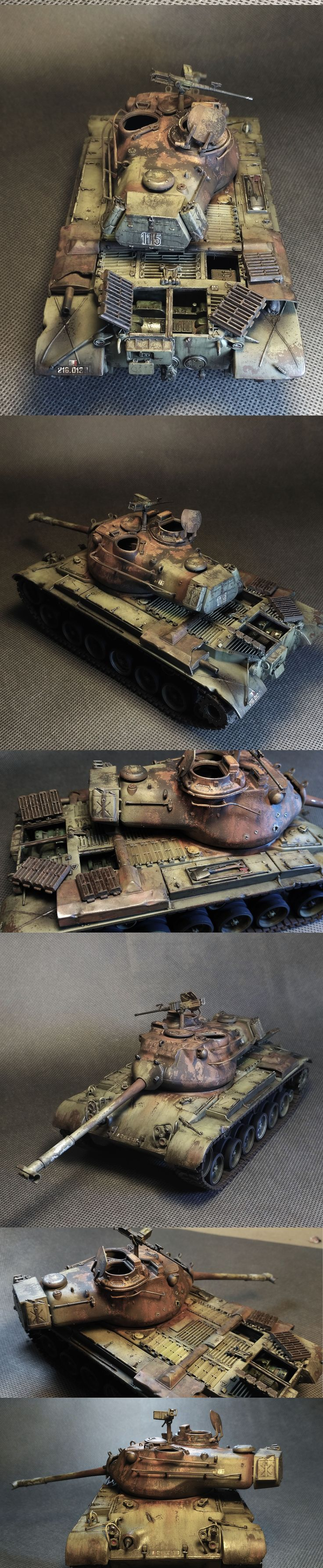 M47 Patton Knocked out. hit the tower and burned. Model, Tank, M 47