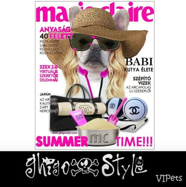 Marie Claire Hungary's assistent Babi on the cover