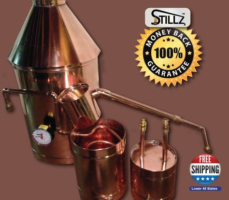 20 Gallon Traditional Moonshine Still for Sale. Moonshine Stills, Copper…