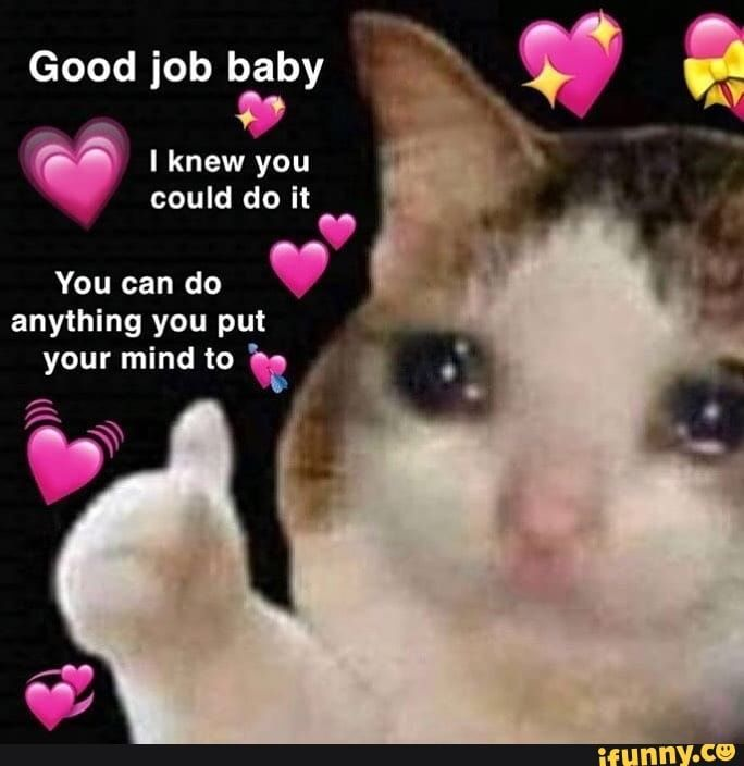 Good Job Baby You Can Do Anything You Put Ifunny Cute Love Memes Cute Memes Crush Memes