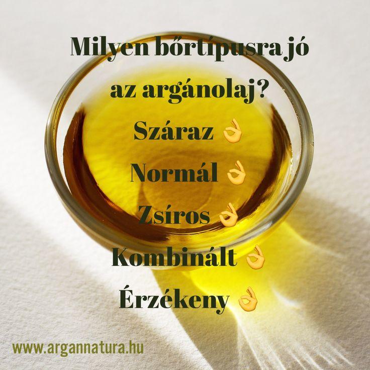Ezért is szeretjük a tiszta argánolajat, mert használhatjuk bármely bőrtípusra.  Az argánolaj segíthet a zsíros bőr túlzott faggyútermelésének helyreállításában, ugyanakkor alultermelés esetén közreműködhet a száraz bőr vízhiányának pótlásában. www.argannatura.hu