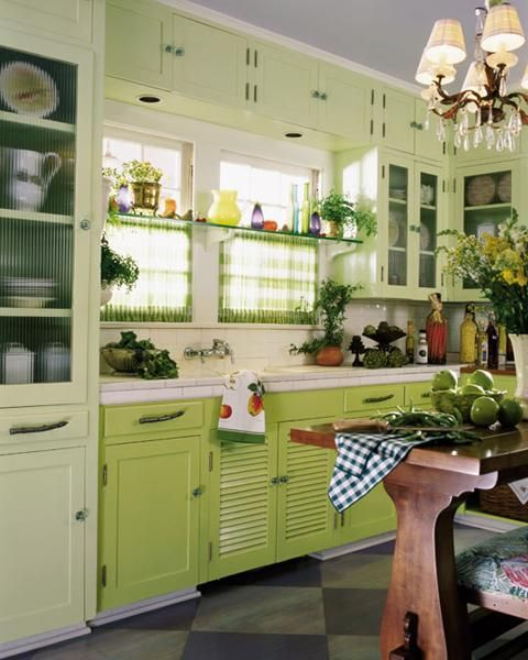 Kitchen Window Shelf: How To Decorate Kitchen With Green Indoor Plants And Save