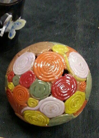 Glazed  tea light  sphere