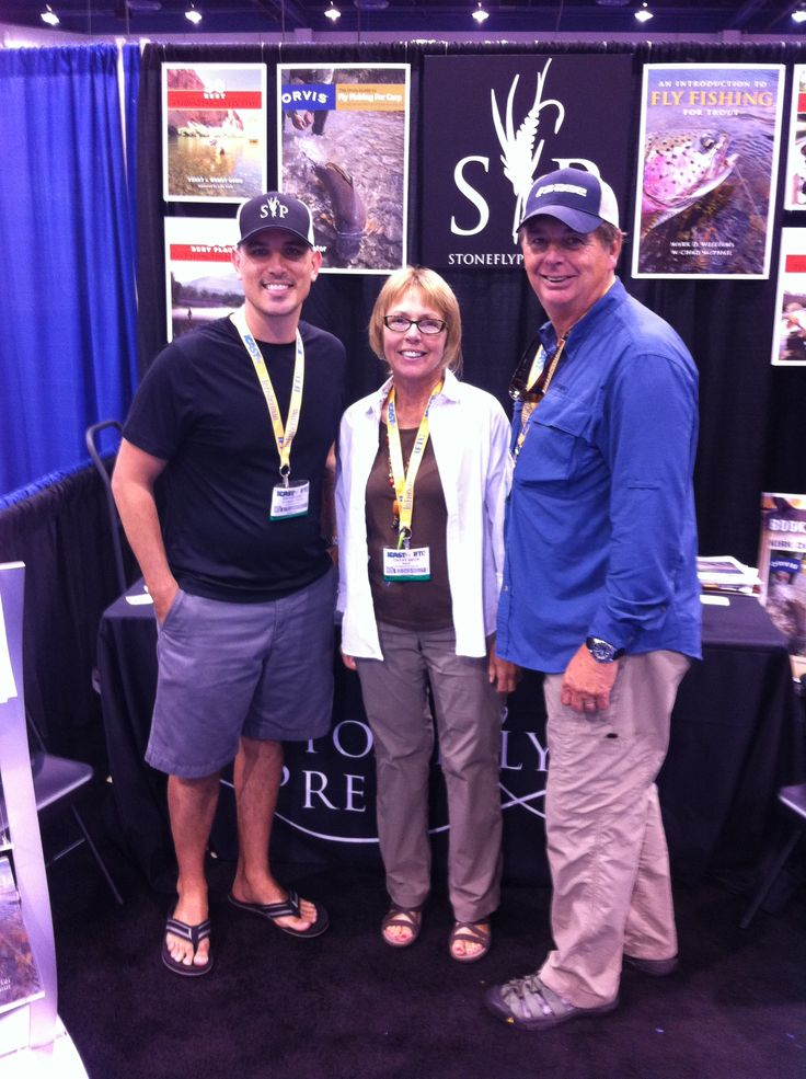 Cathy & Barry Beck with Stonefly Press co-founder and COO, David Gray