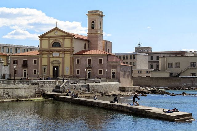 The church of San Jacopo in Acquaviva and its small pier