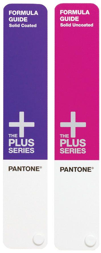 Set de dos guías en la escala de color Pantone Color Matching System. Una abanico de 1.371 colores directos en la escala PMS sobre dos mater...