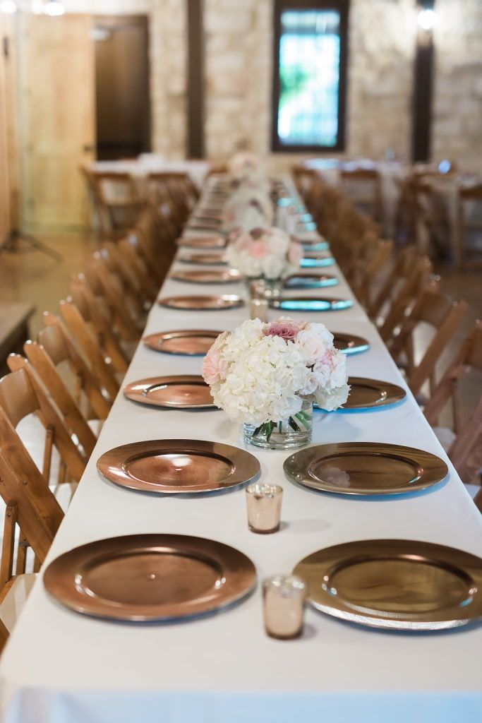 Poetry Hall Gold Table Decor Informal Wedding Receptions