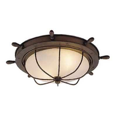 Have to have it. Vaxcel Orleans Nautical Outdoor Ceiling Light - 15W in. Antique Red Copper - $158.75 @hayneedle