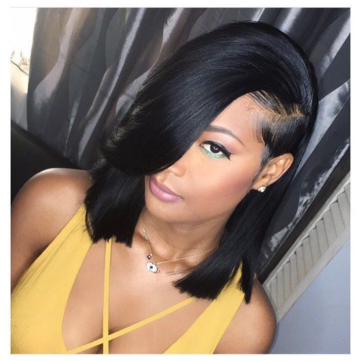 Beautiful bob with bangs wigs for black women lace front wigs human hair  wigs hairstyles   fdb0477dd1