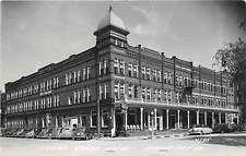 MASON CITY, IA ~ CERRO GORDO HOTEL, CARS, L.L. COOK REAL PHOTO PC ~ c. 1940s