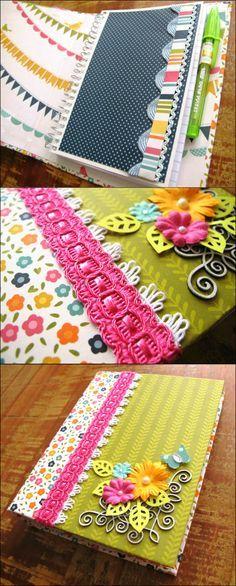 Como fazer um lindo caderninho de anotações | HAK – Blog de Artesanato