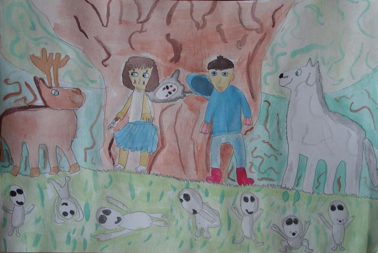 La Princesa Mononoke y el bosque sagrado. Princess Mononoke and the sacred forest.