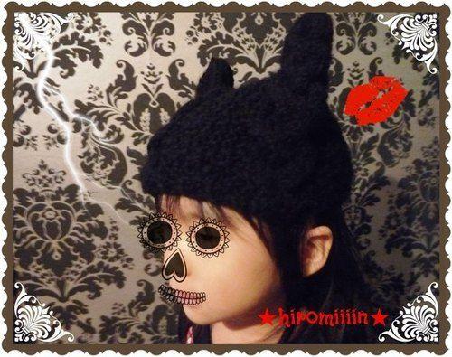猫耳ニット帽子 子供用❤ の作り方