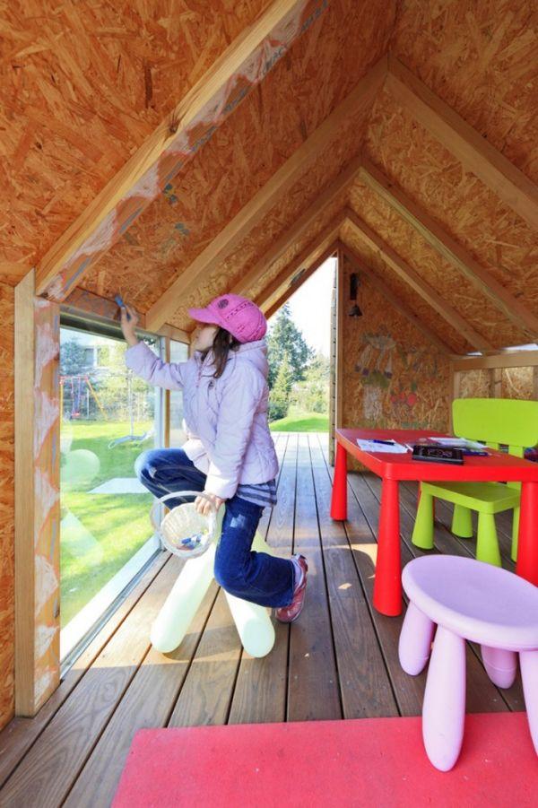 Kinderholzhaus Garten Bau-Ideen Majas-Haus