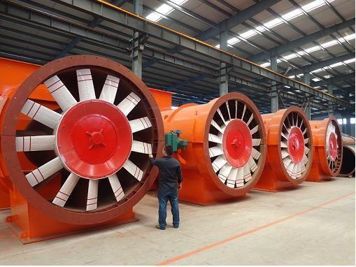 Mineria de extracción de tipo anti-explosión ventilador axial