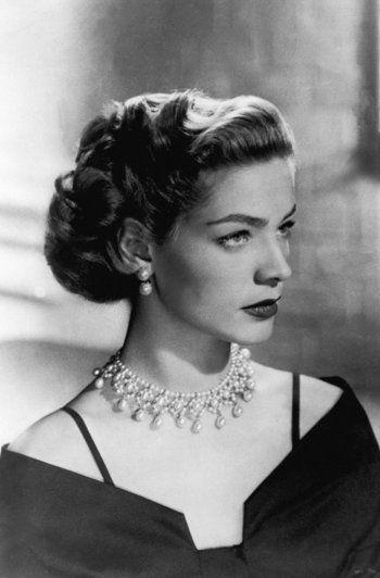 Lauren Bacall, 1950s, #LaurenBacall #thelook