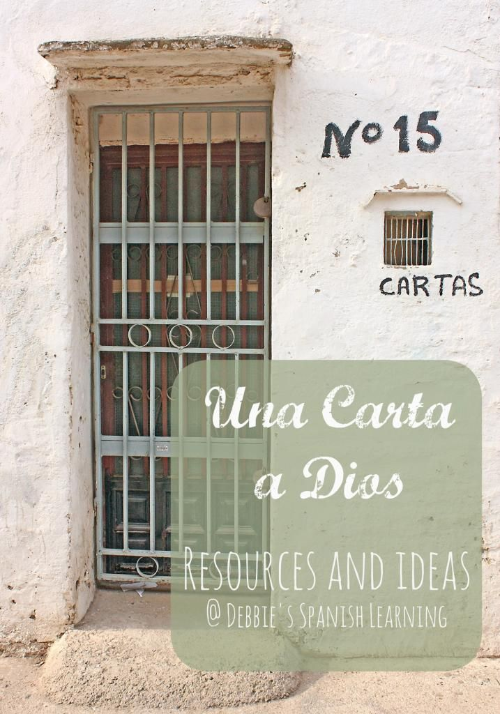 Debbie's Spanish Learning: Resources for Teaching Una Carta a Dios {Free Printable}