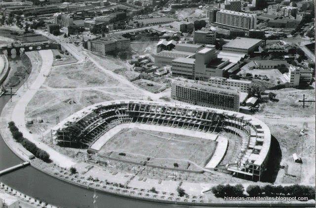Estadio Vicente Calderón en obras 1964.