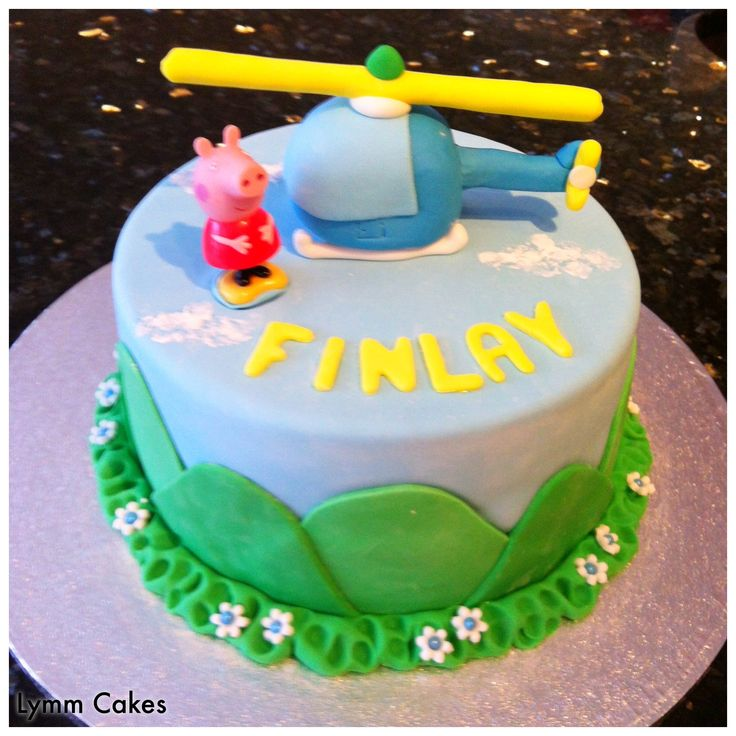 Peppa Pig Helicopter Cake Cakes Pinterest Helicopter