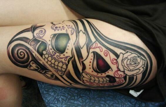 #InkedMag #Tattoo of The ay #skulls #sugarskull #RT #share #Inked #tattoos #tattooed #ink $art