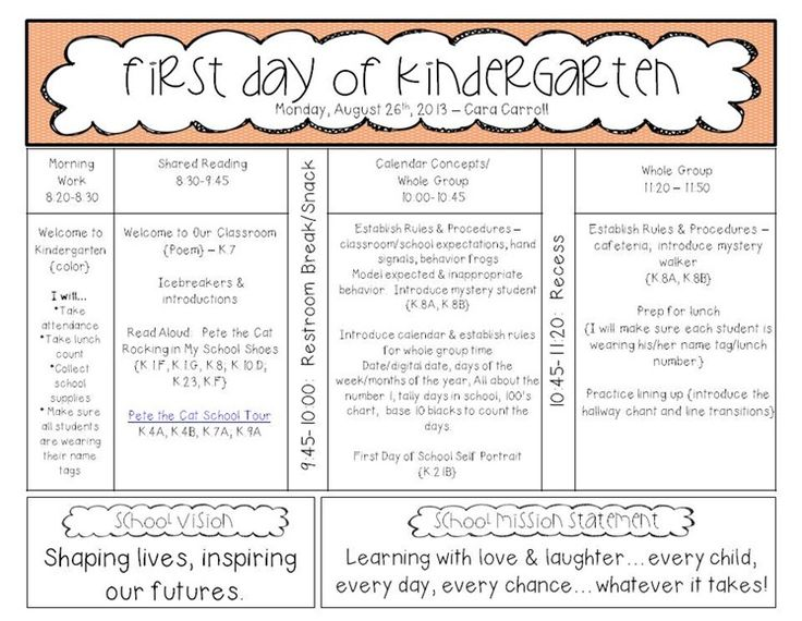 Kindergarten Calendar Time Lesson Plan : Best kindergarten schedule ideas on pinterest