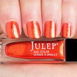 online sports shoes india Kirti Thumbnail Swatch of Persimmon Iridescent Shimmer Nail Polish