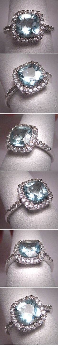 Love this style/cut and color. Aquamarine, my birthstone! Want this as my engagement ring!