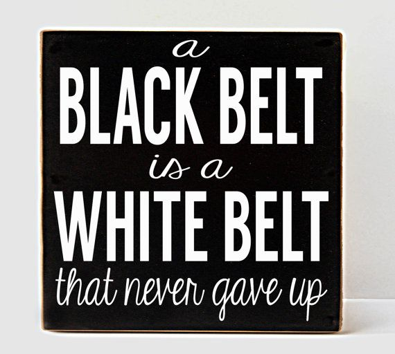 Black Belt Wood Sign Karate White Belt Karate Decor by vinylcrafts