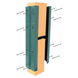 Deck / Fence Post Repair Kit, Khaki (10 Pair) - Deck / Fence Post Repair Kit. Khaki Color. Powder coated steel, 16 inch long. Fits 4 inch wide post. Includes screws. 10 Pair/Box. Price/Box.