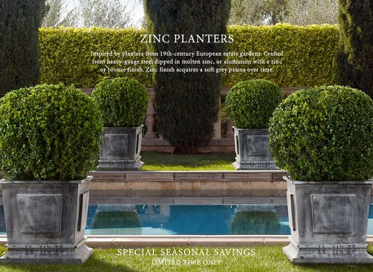 Restoration Hardware Planters With Boxwoods