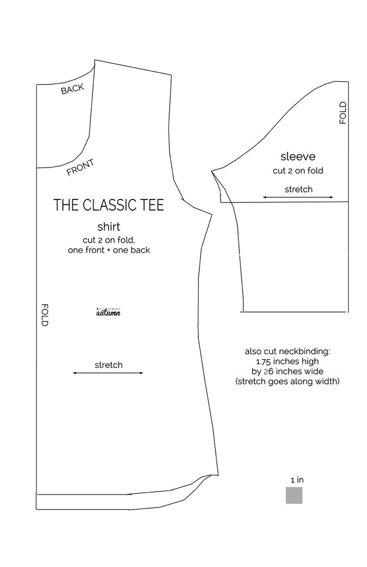 Design your own t-shirt front and back - Learn To Make A Classic Tee With This Easy Womens Sewing Tutorial And Free Pattern In