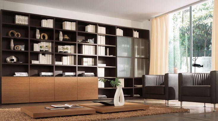 Oltre 25 fantastiche idee su librerie a parete su for Librerie in legno moderne