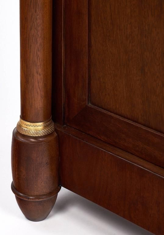 Empire Style French Antique Walnut Bookcase 9
