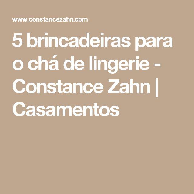 5 brincadeiras para o chá de lingerie - Constance Zahn | Casamentos