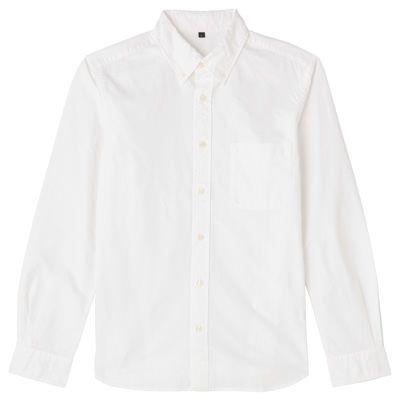 無印良品 オーガニックコットン洗いざらしオックスボタンダウンシャツ