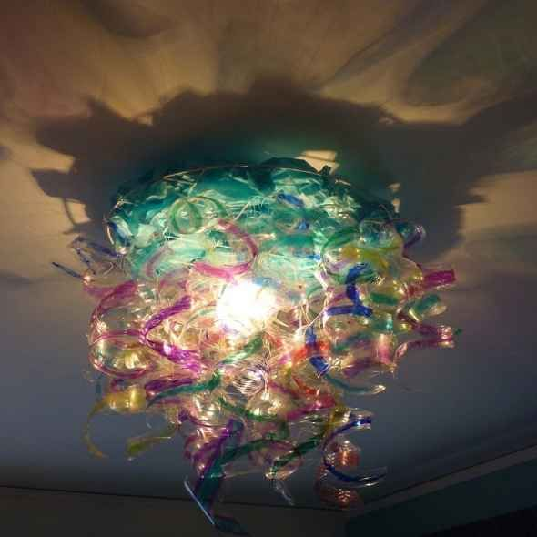 Light fixture from recycled water bottles by 7 Upcycled DIY Ideas to  Decorate a Tween or   Teen Girl BedroomsTween. 10 best my dream house images on Pinterest