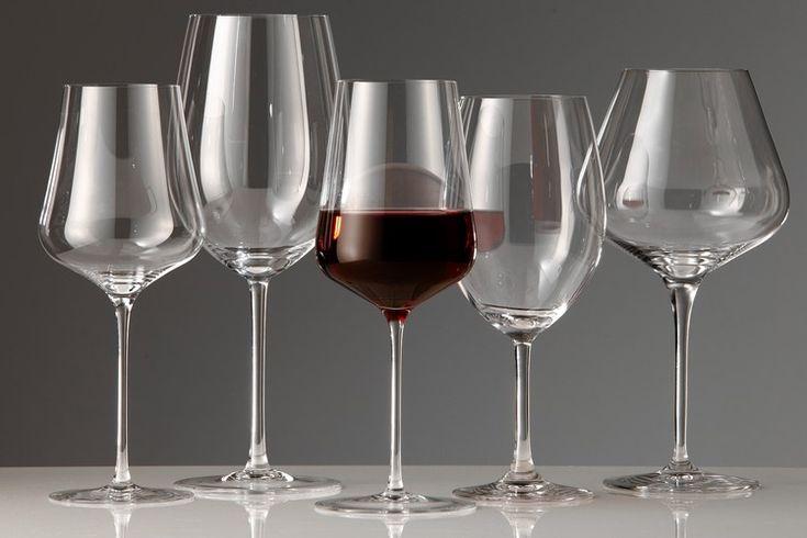 From left: Gabriel-Glas One for All; Riedel Sommeliers Bordeaux; Zalto Universal; Stölzle Bordeaux Exquisit; Spiegelau...