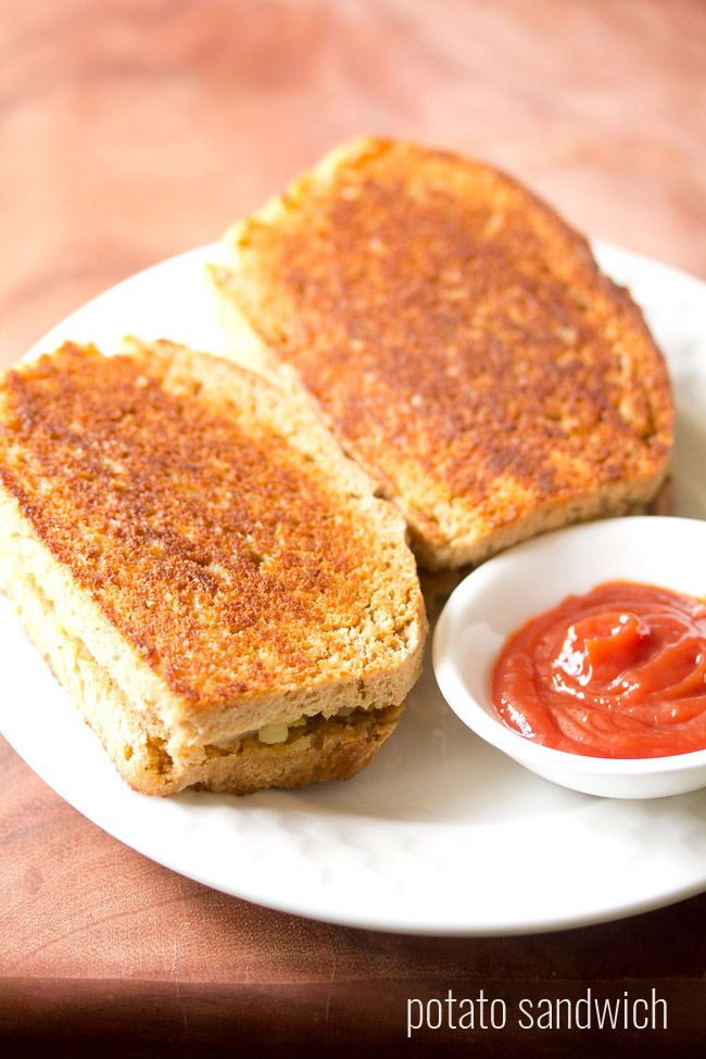 potato sandwich recipe, how to make grilled potato sandwich on tawa