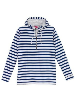 Woman Within Plus Size Zip Terry Hoodie, Striped Pullover,Lower price