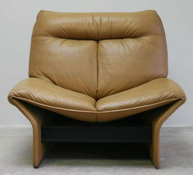 Anonymous; Wood, Leather and Metal 'Rondine' Lounge Chair by Busnelli, 1970.