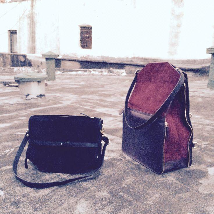 Bukvy leather bags. Backpack, rucksack, tote, shoulder bag, manbag. Burgundu, black & Brown