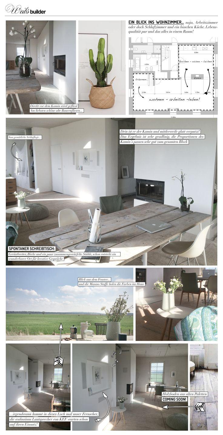 Unser Wohn-Arbeits-Lebens-Raum/Zimmer #Hell #Landleben #So lässt es sich…