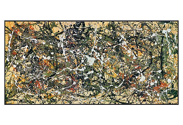 Jackson Pollock, Number 8, 1949 on OneKingsLane.com $149    26x47