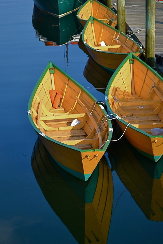 """""""Gloucester Dories."""" Smithsonian.com Editors' Pick from our ongoing 10th annual photo contest: October 12, 2012. Photo by Elinor Teele."""