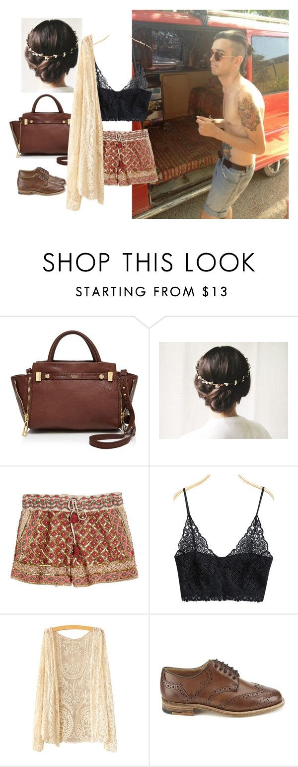 """""""Festival w/ Matty Healy"""" by s-styles-1 ❤ liked on Polyvore featuring Botkier, Calypso St. Barth, Tricker's, women's clothing, women's fashion, women, female, woman, misses and juniors"""